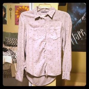 A New Day Soft Gray Star Flannel Shirt
